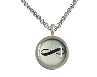 Bordered Mathematical Infinity Google Googol Symbol Pendant Necklace
