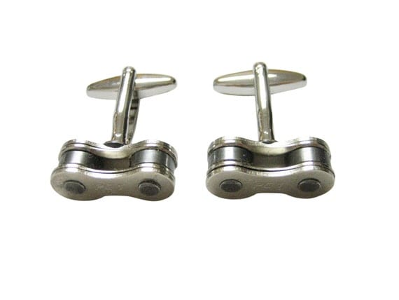 Bicycle Chain Cufflinks (1 Link Design)