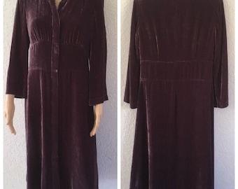 JJill Purple Plum Silk Velvet Dress Size 8 super soft