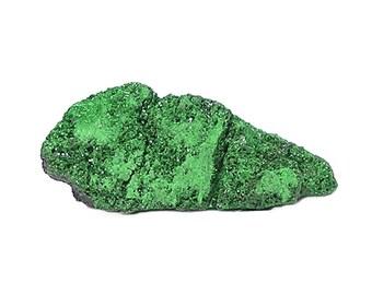 Uvarovite green Garnet Gem Crystalline druzy on chromite rock matrix Mineral Specimen or Focal Gemstone Sparkly, Dazzling