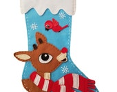 Rudolph the Red-Nosed Reindeer Felt Stocking
