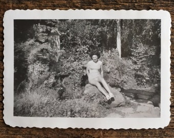 Original Vintage Photograph Forest Beauty