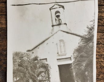 Original Vintage Photograph There Was a Crooked Church 1945