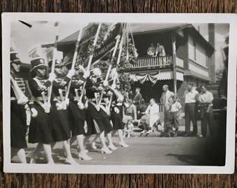 Original Vintage Photograph Ladies Marching