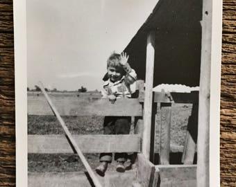 Original Vintage Photograph Farmboy