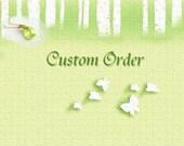 Custom Order for BB  -- Garnet Flower Necklace