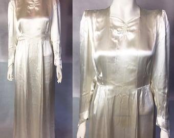 WW1 era 1940s wedding dress M