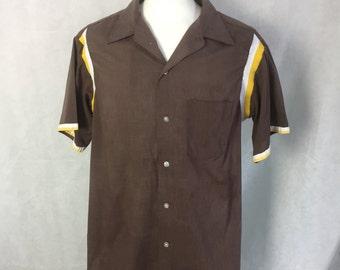 1950s bowling shirt 17-17.5