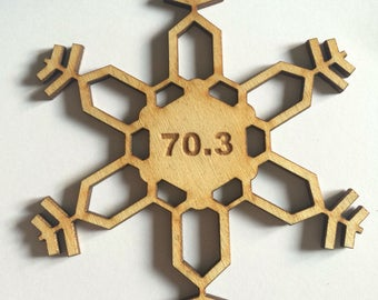 Triathlon Ornament: Half Ironman Christmas Ornament, 70.3 ironman Ornament,  triathlon gift,  ironman ornament, triathlon ornament