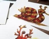 Postcard Set: Snail Mail - Yuletide Edition