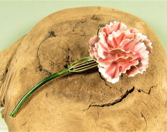 Mod Flower Brooch - Vintage Original by Robert Pink Enamel