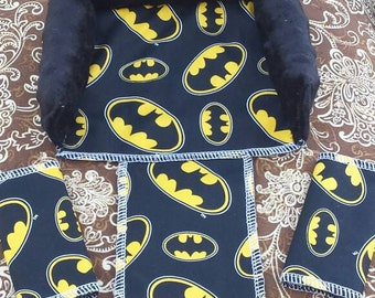 Batman headrest and strap covers for baby seat superhero marvel head support for infant seat cover