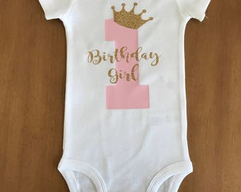 Birthday Girl, First Birthday Outfit Girl, 1st Birthday Shirt, Half Birthday Shirt, Half Birthday Outfit, Princess Birthday, cake smash outf