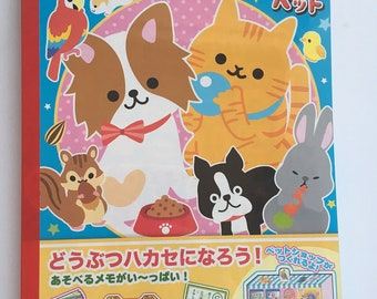 Kawaii Puppy& Kitten Activity Letter set origami, Games, Stickers, Pets