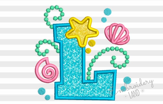 letter l design mermaid sea letter l applique embroidery design for 22898 | il 570xN.1190848586 fuet