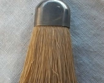 Gentlemen's ~Vintage Chrome Clothes Brush ~ Whisk Broom ~ Small Brush ~ Travel Supply ~ Tidy up ~ Collectable
