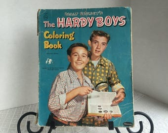 Hardy Boys Coloring Book / Vintage Walt Disney Hardy Boys Book 1957