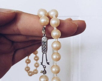 ON SALE Danish Vintage Pearl Necklace