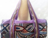 Tribal Cotton Duffle Bag, Gym Bag, Weekender Bag