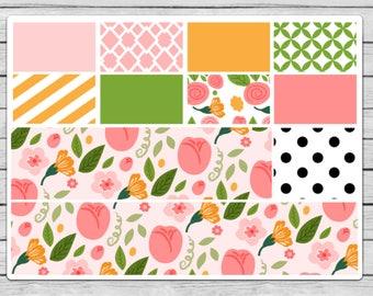 Bella Rose Bottom Washi and Washi Planner Stickers