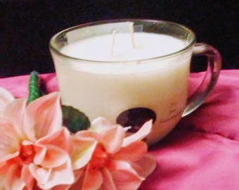 Pure Religion all natural soy wax aromatherapy & massage teacup candle, 20oz