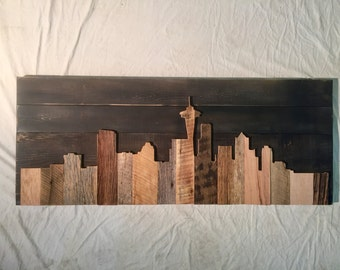 "Hand Crafted Seattle 48"" Skyline"