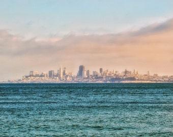 San Francisco Skyline Pink Photo Print