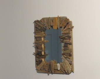 "Driftwood Mirror Spring Tide 19""x15"""