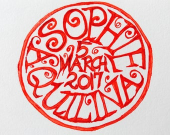 Custom business seal or rubber stamp - Hand drawn /Bobby Graham crossover with BlackmarketIntl/