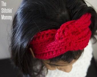 Love Me Knot Headband - Crochet Pattern in 2 Sizes