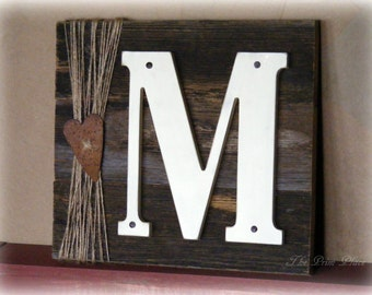 Rustic Monogram Sign~Monogram~Custom Monogram Sign~Wedding Monogram~Rustic Wedding Decor~Monogram Wood Sign