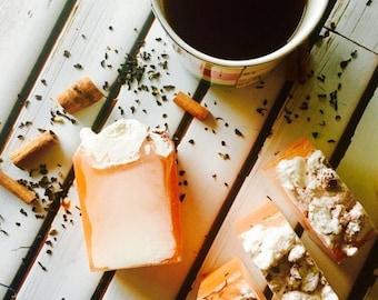 25% off Chai Tea Latte Soap, Chai Tea Soap, Tea with Cream Soap, Fragrant Soap, Bath Soap, Moisturizing Soap