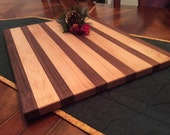 Cutting Board / Chopping Board Edge Grain Maple and Black Walnut