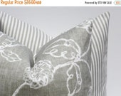 15% Off Sale Decorative Pillows EURO Pillow Covers ONE 24x24 Gray Pillow Housewares Home Decor Cushion Covers Decorative Pillow Accent Pillo