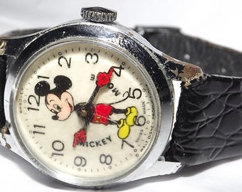 Mickey Mouse Swiss Made Walt Disney Productions Character Watch