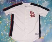 St Louis CARDINALS True Fan Baseball Jersey Size L