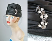 Satin Turban Hat / Vtg 50...