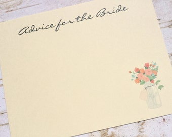Advice for the bride cards advice for the bride to be guest book rustic bridal shower mason jar