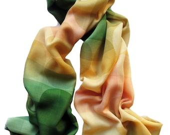 Sage Green Cashmere Wool Scarf