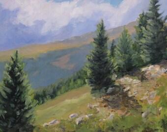 The Descent from Quandary Peak - Colorado - Original Oil Landscape Painting