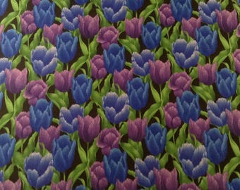 Floral Reign Tulips Quilting Fabric, fat quarter, Hoffman