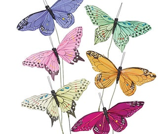 Butterfly Picks Floral Supplies Ideal for Wedding Centerpieces, Crafts and Floral Arrangements