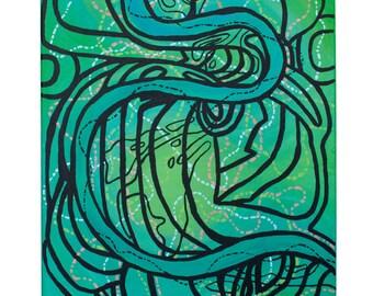 """ORIGINAL ART PRINTS Mississippi River """"Meanders"""" 2016"""