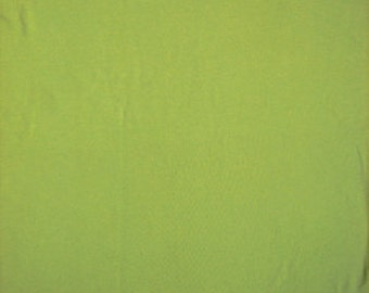 Cotton Jersey Stretch Spandex Lime 58 Inch Fabric by the yard - 1 Yard