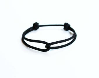 Rope Bracelet - Unisex Hugging Loop Rock Climbing Bracelet - Black
