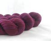 Hand Dyed Merino / Nylon Sock Yarn Burgundy