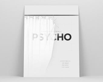 Psycho Poster ~ Bates Motel, Horror Movie Poster, Film Gift, Alfred Hitchcock, Art Print by Christopher Conner