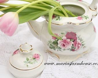 Vintage Tea Pot by Crown Dorset, Staffordshire Fine Ceramic, England, High Tea Party, Little Princess Birthday Tea Party
