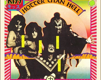 KISS Hotter Than Hell Album Sales Promo Counter Top Stand-Up Display - Album Collectibles Collector Memorabilia Gift Magazine Advertisement