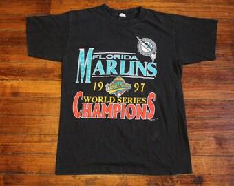 Florida Marlins shirt 1997 world series champions baseball tshirt graphic tee miami marlins Large